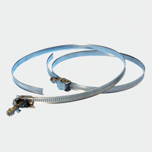 Fascetta stringitubo stringi tubo condotta serraggio 60-380mm 10pz pcs acciaio g