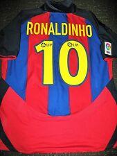 Authentic Ronaldinho Barcelona Jersey DEBUT 2003 - 2004 Shirt Camiseta L