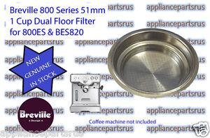 Breville Coffee Machine 1 Cup Filter 800ES BES820 - Part No 800ES/235 - NEW