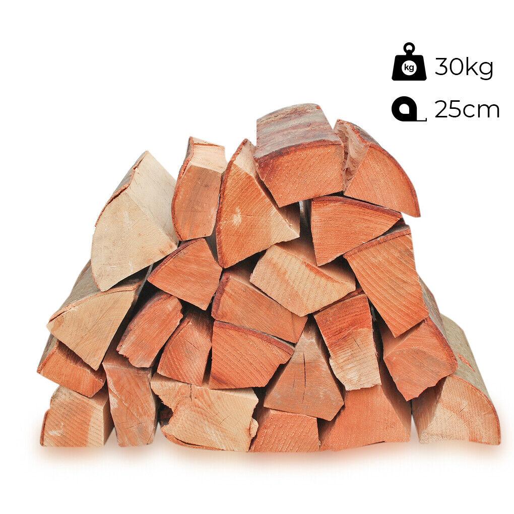 30kg Kaminholz Brennholz Buche trocken 25cm Buchenholz Smokerholz Räucherholz