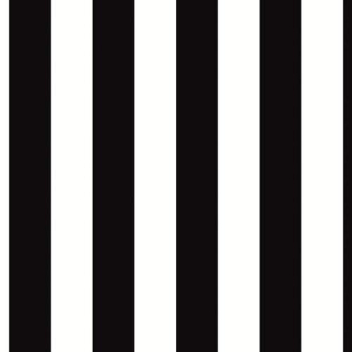 WALLPAPER BY THE YARD BW28702 1.25 inch Black /& White Stripe