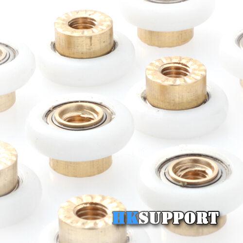 12 x ∅19mm Nylon Roller Wheel with M6 Thread Shaft for Rostock Delta 3D Printer