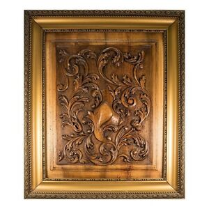 Image Is Loading Antique French Carved Wood Panel Frame Acanthus Amp