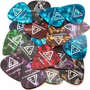 18-x-GUITAR-PICKS-PLECTRUMS-acoustic-bass-electric-plectrum-pick-gauges