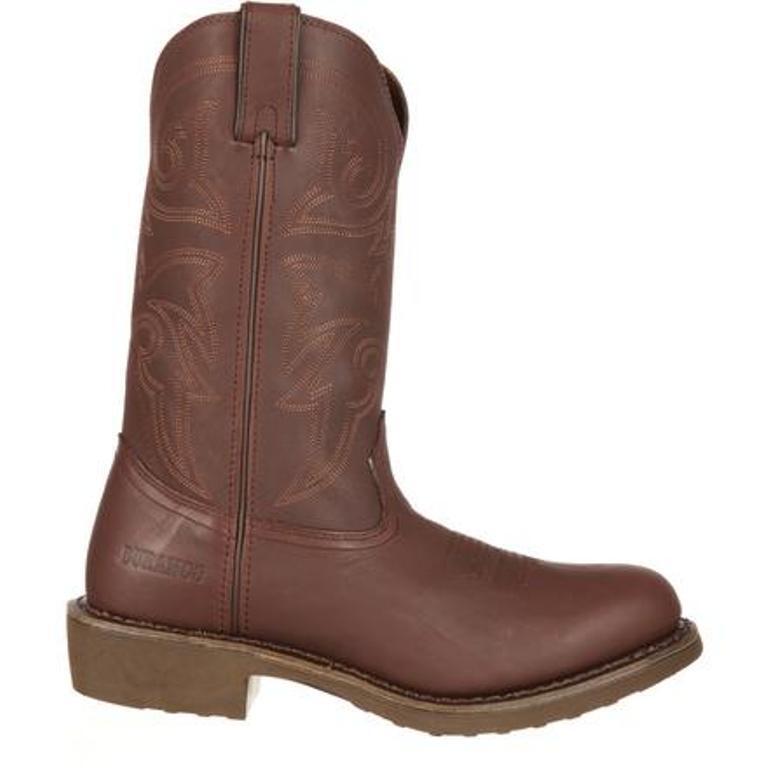 Durango Mens Farm 'N Ranch Brown Pull On Work Western Boots FR104  MANY SIZES