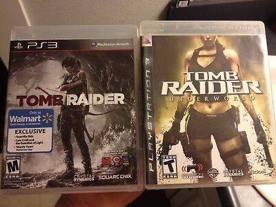 Tomb Raider + Tomb Raider Underworld ps3 COMPLETE