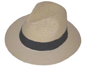 Caricamento dell immagine in corso Panama-Cappello-di-Paglia-Lxl-Naturale 46d30776968d