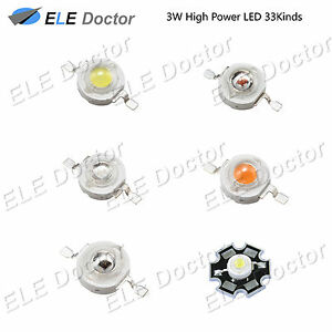 3W-watts-High-Power-SMD-LED-COB-Chip-Lights-Beads-White-Red-Blue-Yellow-With-PCB