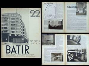 2019 DernièRe Conception Batir N°22 1934 Bruxelles, Batiment Shell, Alexis Dumont Pour RéDuire Le Poids Corporel Et Prolonger La Vie