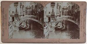 Venezia Italia Foto Stereo Vintage Citrato