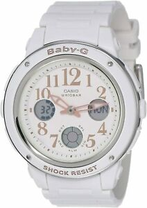 Casio Women's Baby-G Quartz Analog / Digital White Watch - BGA-150EF-7BDR NEW