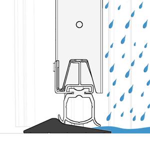 kit pour SEUIL JOINT étanche pour porte de garage 2.5 m