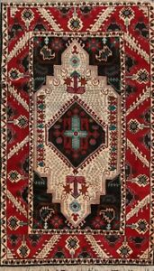 Traditional Geometric Serab Ardebil Area Rug Hand-Knotted Wool Carpet 4'x8' New