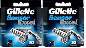 Gillette Sensor Excel Razor Blades 20 Cartridges