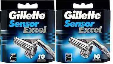 2-Pack Gillette Men's Sensor Excel Razor Blades