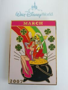Disney-MARCH-St-Patrick-039-s-Day-JESSICA-amp-ROGER-Rabbit-Pot-GOLD-Jumbo-Pin-LE-500