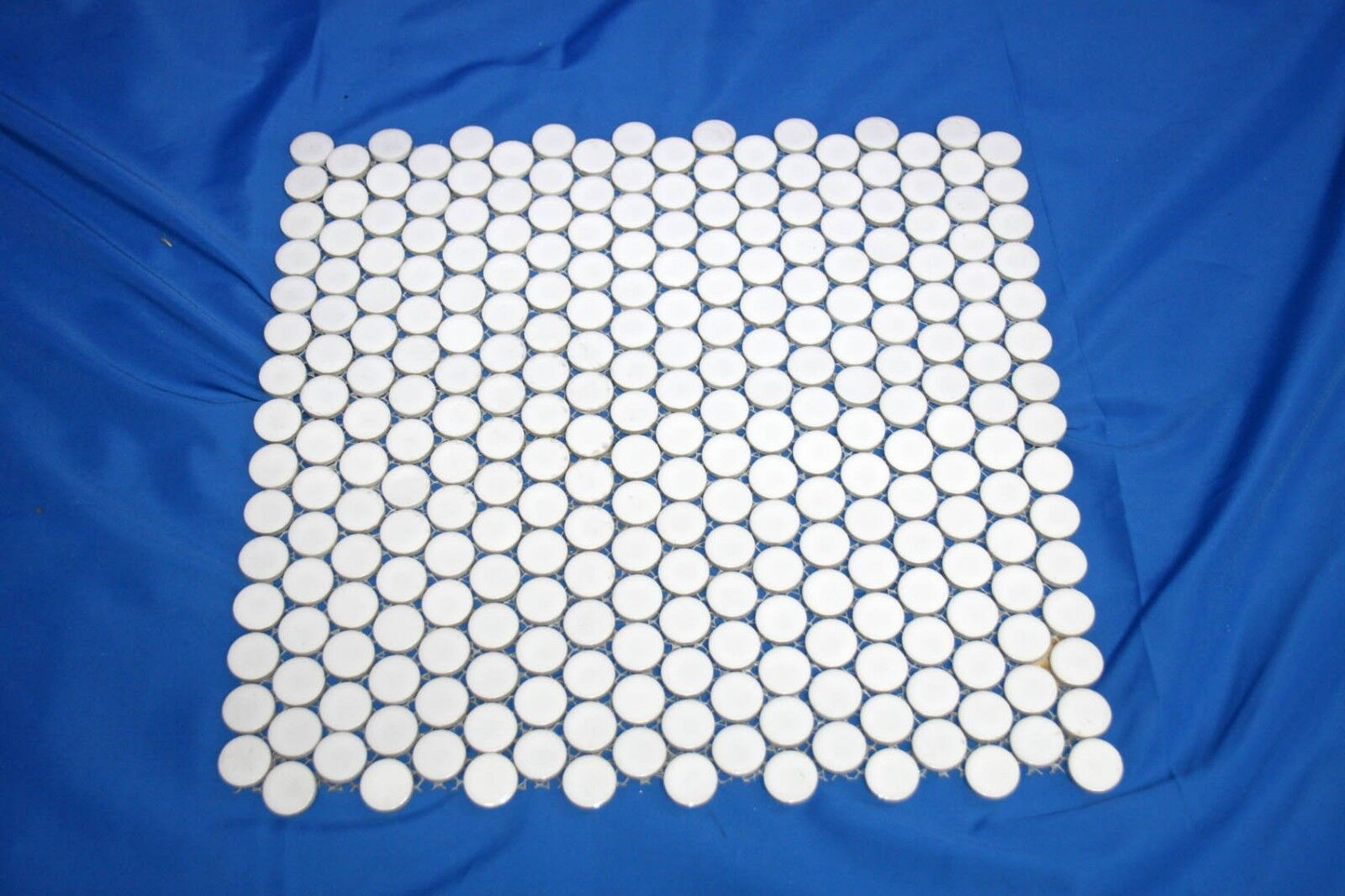2,9m² = 30 Matten 31,5 x 32cm - Keramik Mosaik Fliesen white Ø 1,9cm 3mm Kreis