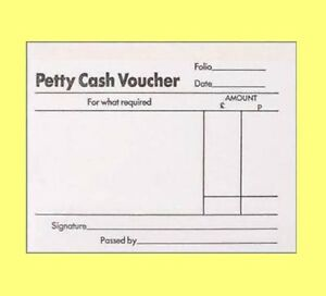 silvine 100 sheets white paper petty cash voucher slip pad forms
