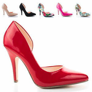Mister-Pointy-Toe-Side-Half-D-039-orsay-Shank-High-Stiletto-Heel-Classy-Dress-Pump