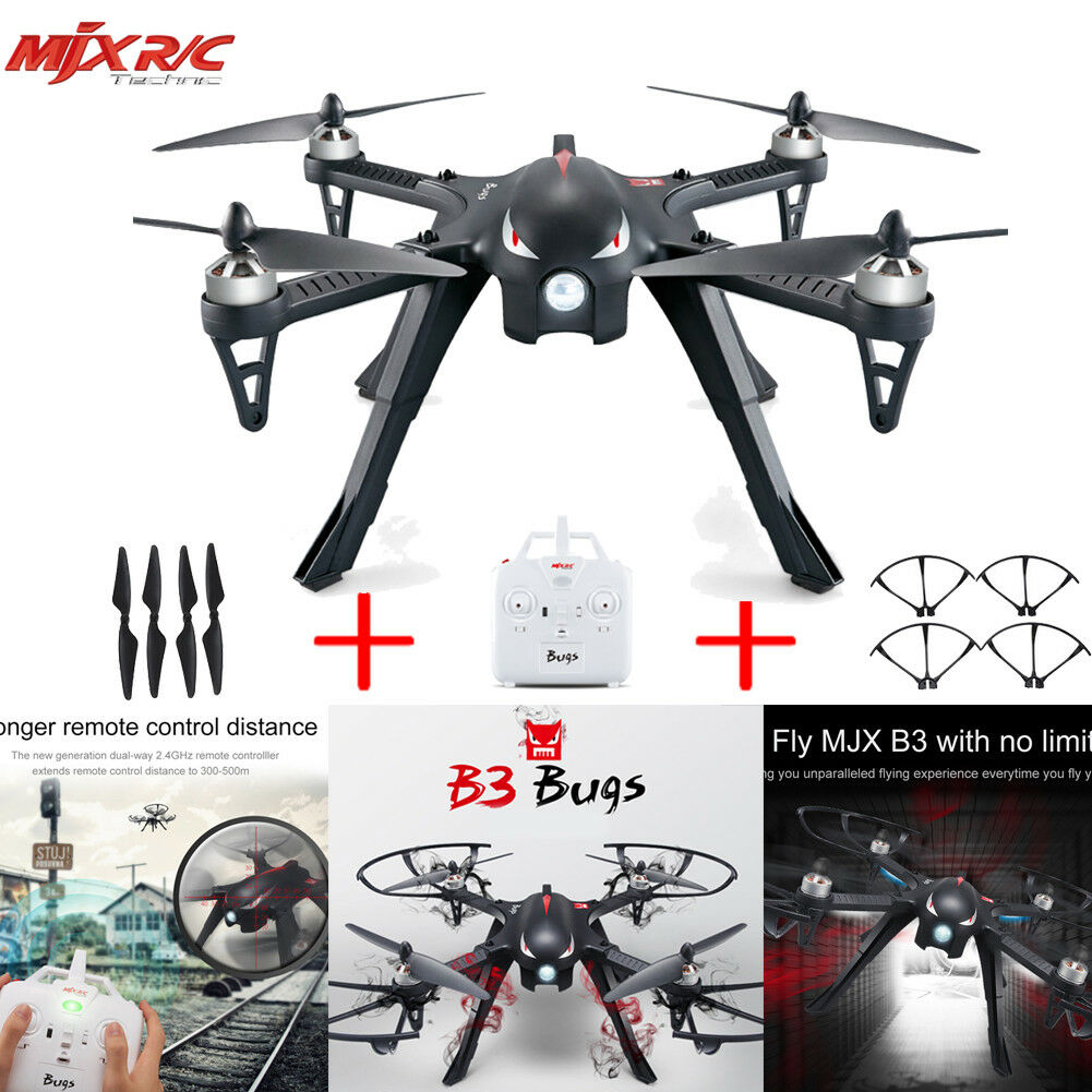 MJX Bugs 3 B3 Drone Drone Drone Quadcopter  2.4GHZ Brushless Motor 6-Axis RTF 1800mAh 773832
