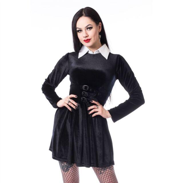 Heartless Gothic Wednesday Dress Las Black Goth Emo Punk