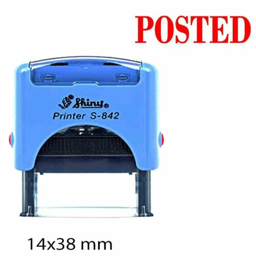 Posted Shiny Self Inking Rubber Stamp Office Stationary