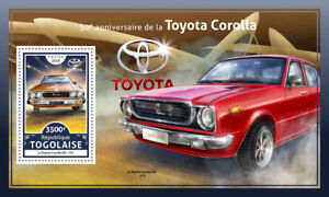 Togo-2016-neuf-sans-charniere-TOYOTO-Corolla-DX-50th-Anniv-1-V-s-s-Cars-Motoring-timbres