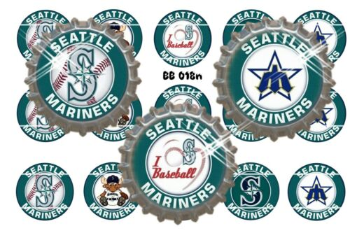 25mm Precut or Stickers ~ Baseball Bottle Cap Images