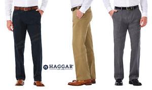 MEN-039-S-HAGGAR-STRAIGHT-FIT-FLAT-FRONT-FLEX-WAIST-STRETCH-FABRIC-CHINO-PANTS-NEW