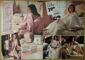 1991-Vintage-PAPER-PRINT-AD-2-pg-Terry-robe-gown-pyjama-women-lingerie-underwear