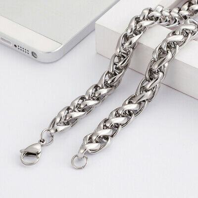 Fashion Jewelry Gnayy Huge 8mm 24'' Stainless Steel Braind Curb Cuban Link Chain Mens Necklace Hot Sale 50-70% OFF