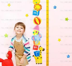 Animal-Height-Chart-Measure-Kids-Children-Wall-Stickers-Nursery-Decal-Paper