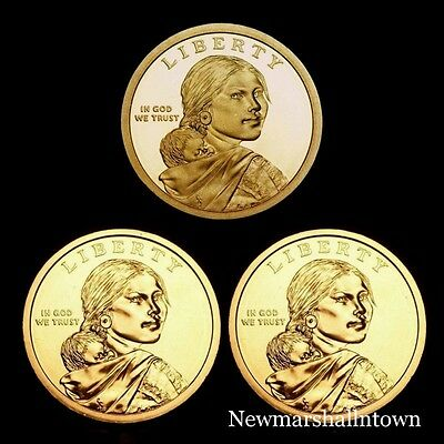 2013 P+D Native American Sacagawea Set ~ Pos AB ~ In Mint Wrappers ~ No S Proof