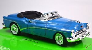 Buick-Skylark-1953-Welly-24027-1-24-puertas-de-apertura-del-Capo-Capucha-Azul-arriba-abajo