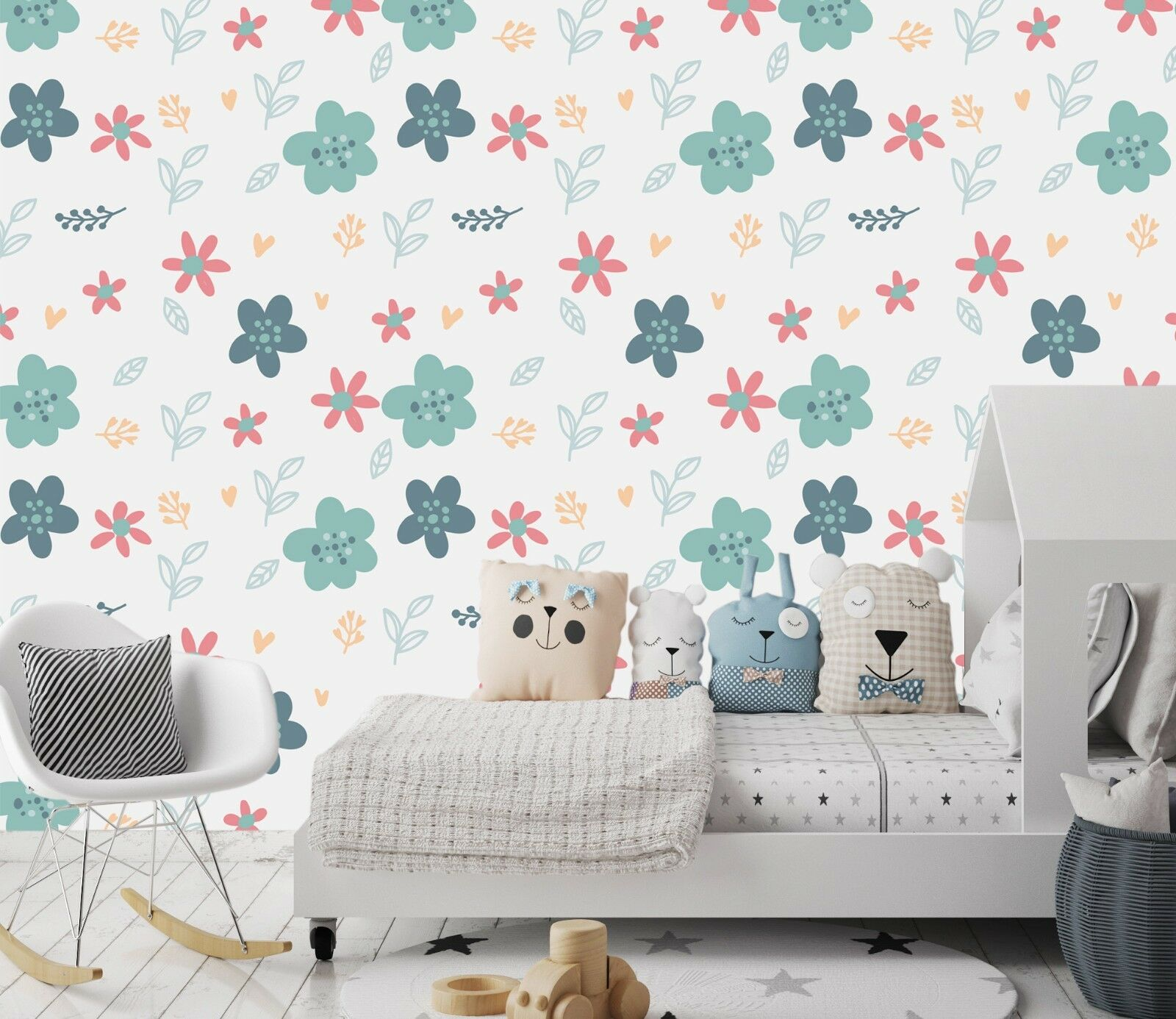 3D Green Flower 76 Wall Paper Exclusive MXY Wallpaper Mural Decal Indoor