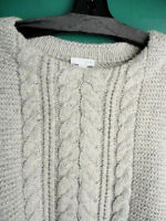 J.jill Sweater L Soft Cable Knit Lush Pullover Oatmeal Heather Tunic $89