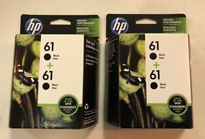 2 HP 61 Black Officejet 2-Pack Ink Printer Cartridge For DESKJET ENVY MAY 2022
