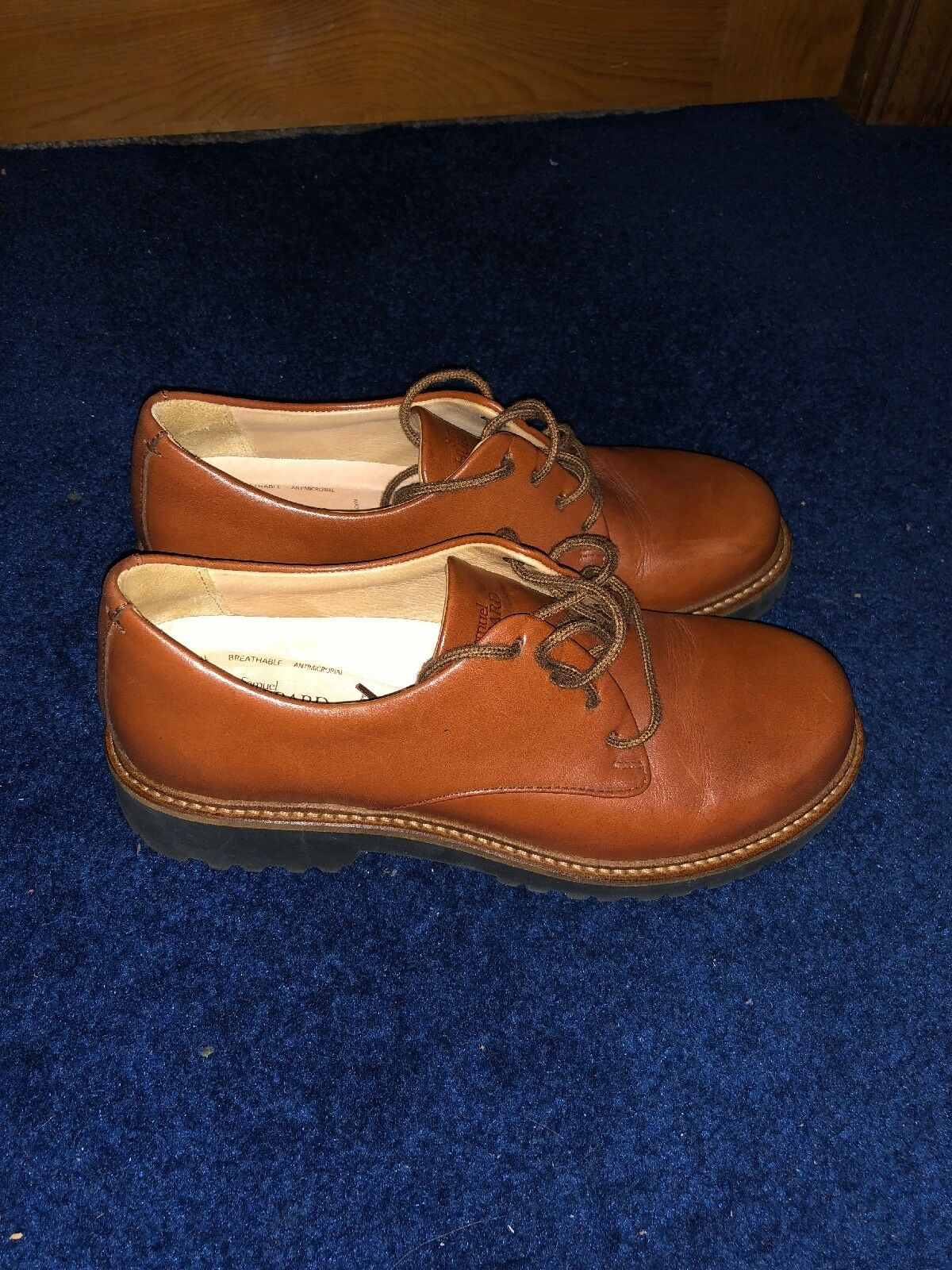 NORDSTROM SAMUEL HUBBARD 'Free Plain Toe Derby' Leather Dress Casual zapatos 7 M