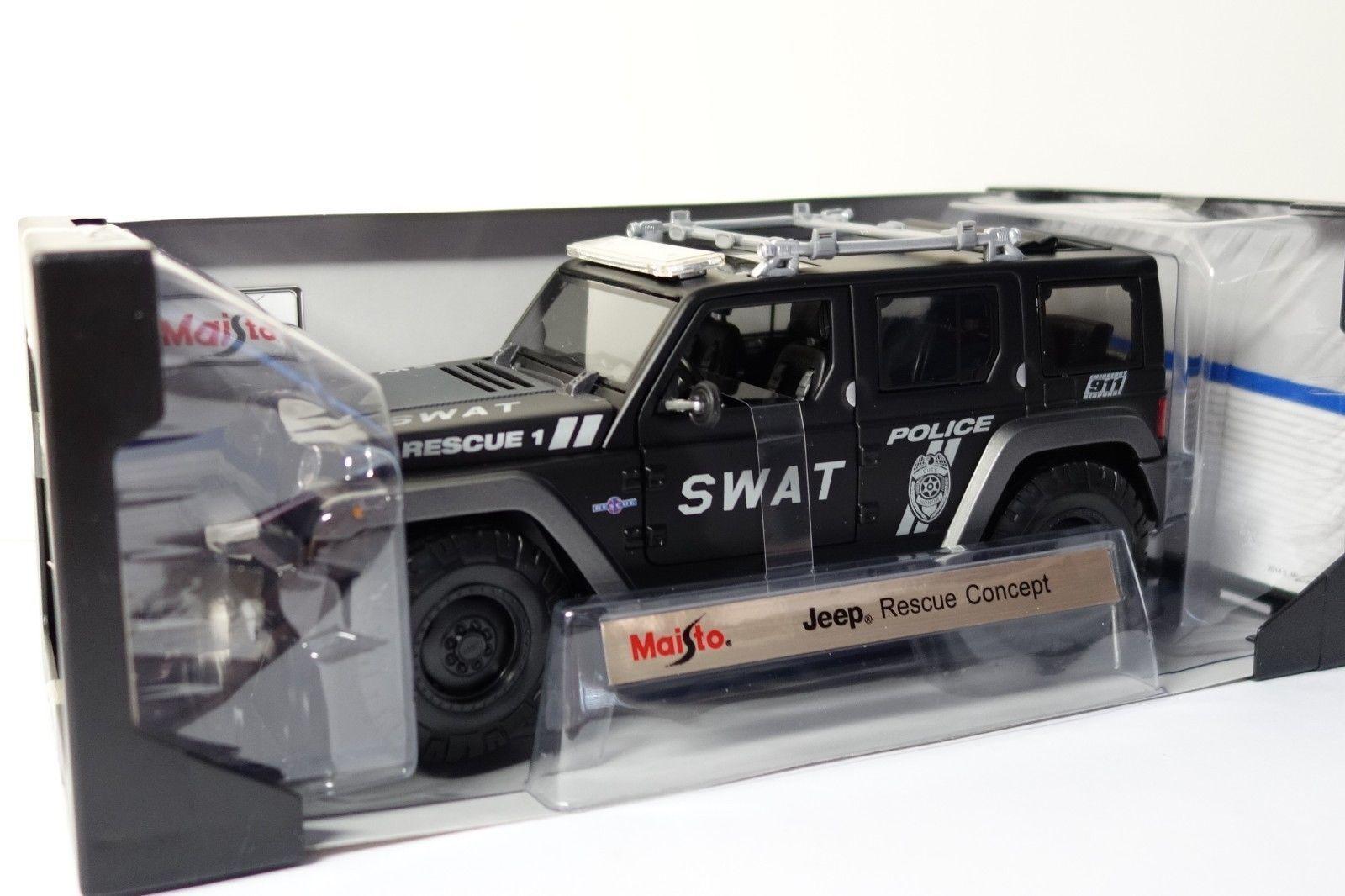1 18 Maisto Special Edition Jeep Rescue Concept SWAT - Polizei  | Die Königin Der Qualität