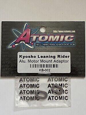 ATOMIC KYOSHO 1//8 MOTORCYCLE 7075 ALUMINIUM MOTOR MOUNT ADAPTOR KB-002