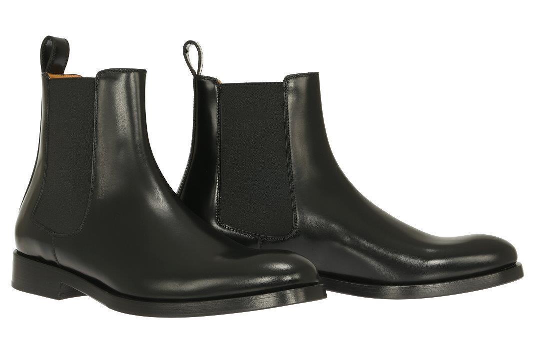 NEW VALENTINO GARAVANI herren LUXURY schwarz LEATHER ANKLE Stiefel schuhe 42 US 9