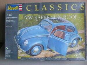 Revell-Classics-7490-Volkswagen-Beetle-VW-Kafer-Sun-Roof-1-16-Plastic-Kit-RARE