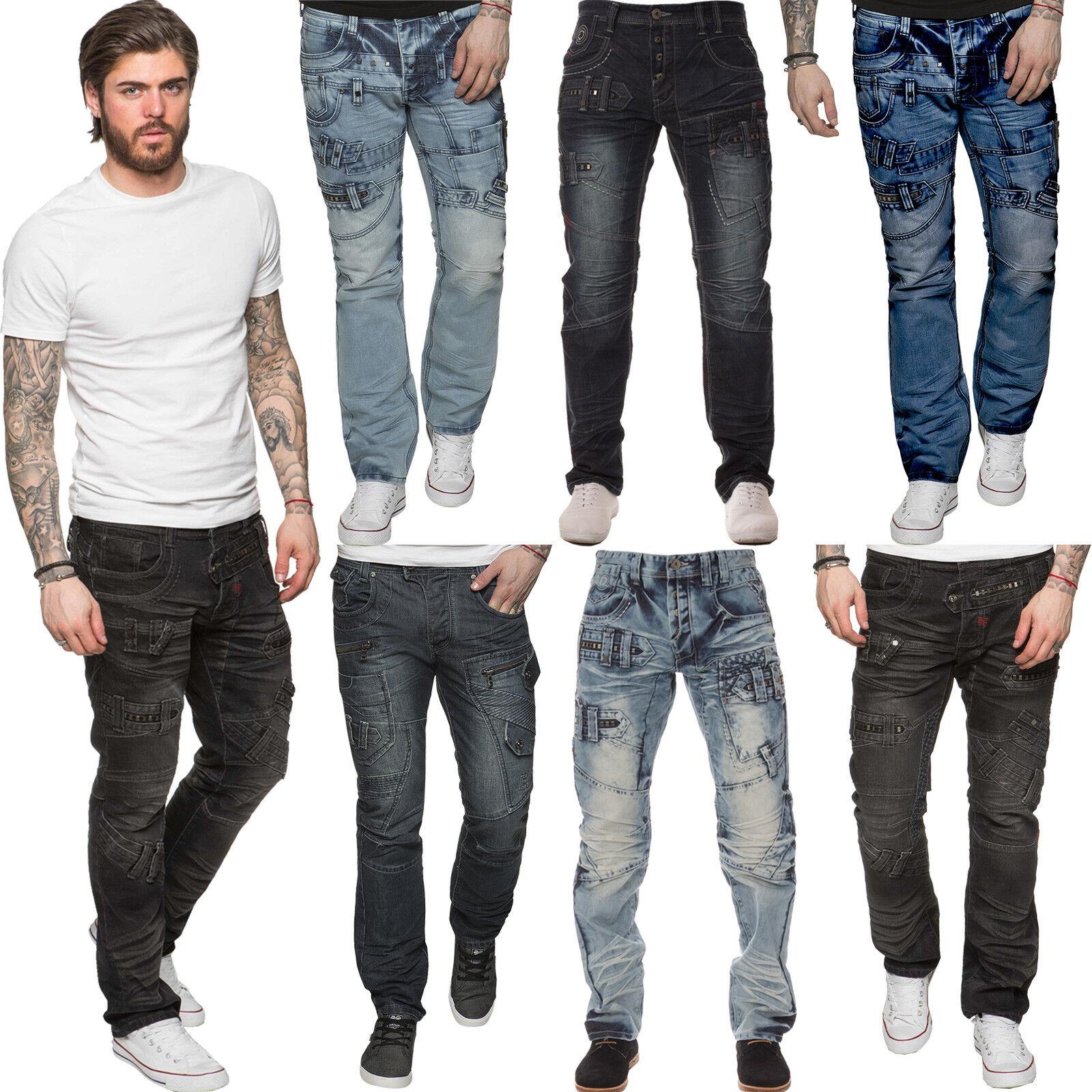 Eto Designer Herren Gerades Bein Jeans Regular Fit Denim Blau Hose Alle  | Um Eine Hohe Bewunderung Gewinnen Und Ist Weit Verbreitet Trusted In-und