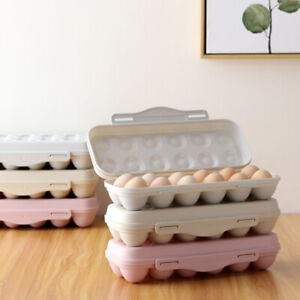 34 Egg Organiser Fridge Cupboard Container Tray Plastic Storage Eggs Case