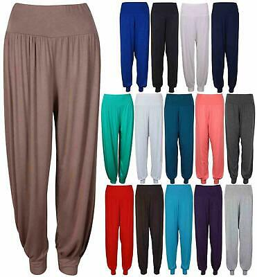 Women/'s Hareem Baggy New Lagen Look Ali Baba Pants Stretch Trousers Leggings