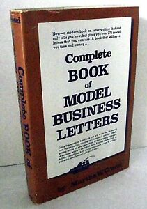 Complete Book Model Business Letters Martha Cresci Writing Examples