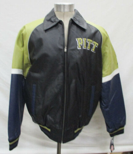 Pittsburgh Pitt Panthers Men XLARGE Four Color Leather Jacket NCAA