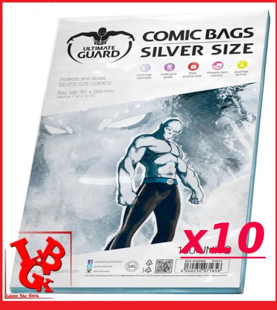 Pochettes Protection Silver Size comics x 10 Marvel Urban Panini Bags # NEUF #