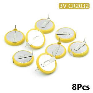 Battery-CR2032-3V-2-Tabs-Coin-Cell-For-Main-Board-Toy-Electronic-Scale-8Pcs-196