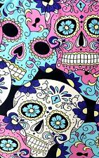 PLUS Sugar Skull Leggings Pink Blue Skeleton Print RARE Buttery Soft Curvy 10-18